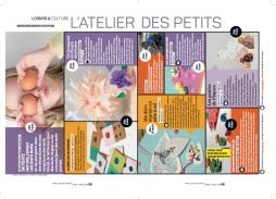 Réalisation de la double-page du carnet d'activités DIY: L'atelier des petits